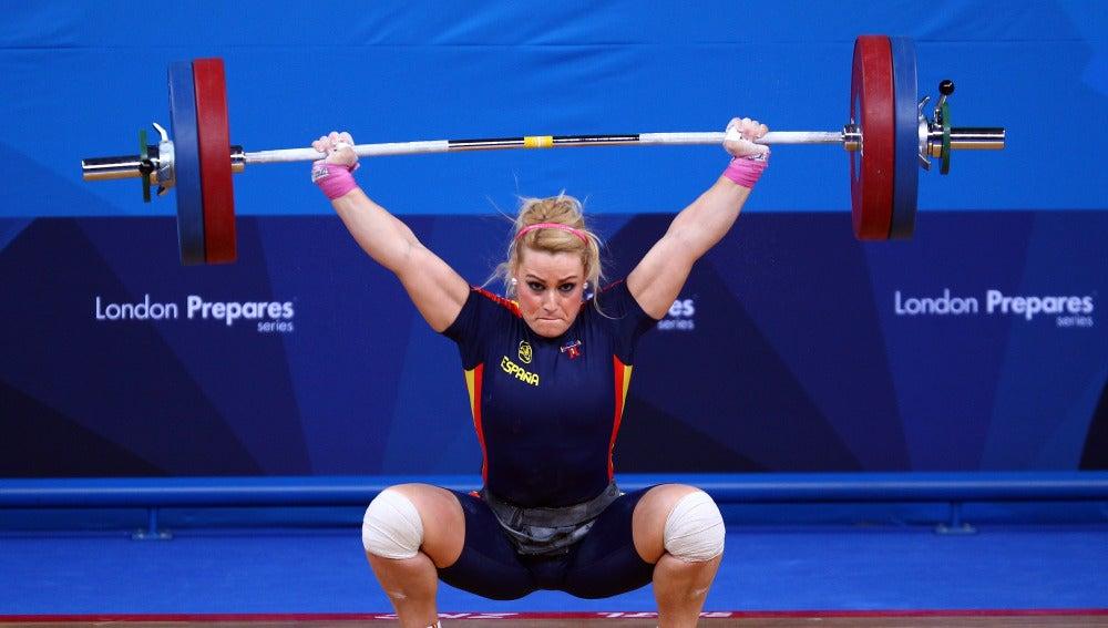 Lidia Valentín durante un test anterior a los Juegos de Londres 2012