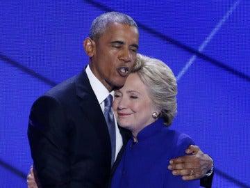 Obama y Hillary Clinton