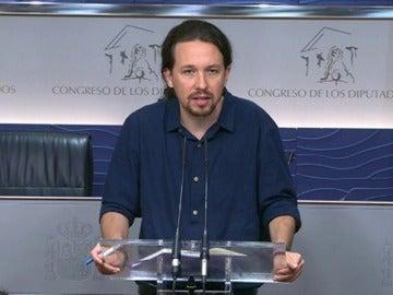 """Frame 12.226544 de: Iglesias: """"creo que Ciudadanos cambiará su voto y no habrá terceras elecciones"""""""