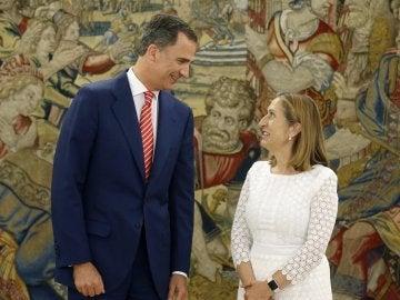 Ana Pastor junto al Rey Felipe VI