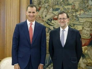El Rey Felipe VI y Mariano Rajoy