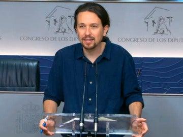 Pablo Iglesias en rueda de prensa