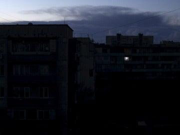 Edificios sin luz tras un apagón eléctico