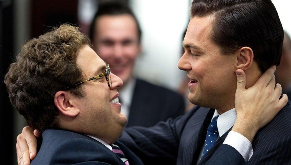 Leonardo DiCaprio y Jonah Hill en 'El lobo de Wall Street'