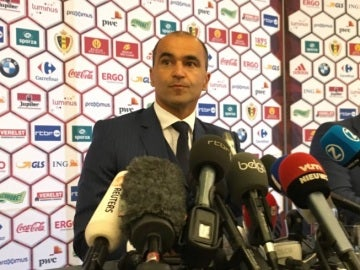 Roberto Martínez, en su presentación como seleccionador de Bélgica