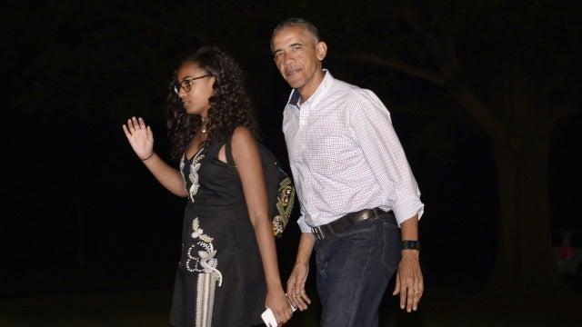 Sasha Obama, la hija menor del presidente de EEUU, Barack Obama,