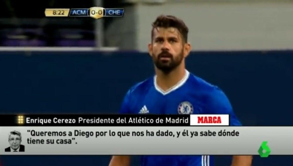 ¿Diego Costa, al Atlético?