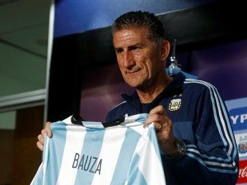 Edgardo Bauza, en su presentación como seleccionador de Argentina