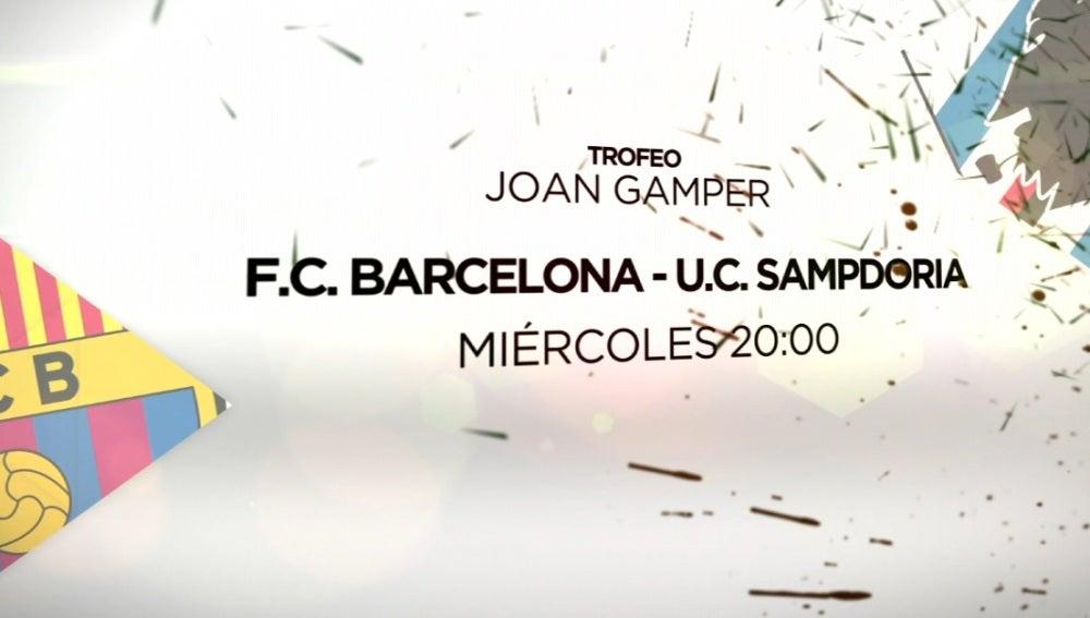 El trofeo Joan Gamper, en Antena 3 y Atresplayer