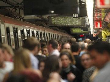 Una imagen del metro de Barcelona.