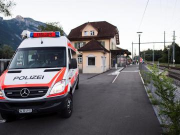 Ataque de un tren en Suiza