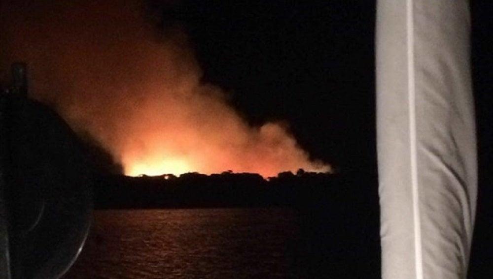 Incendio Formentera