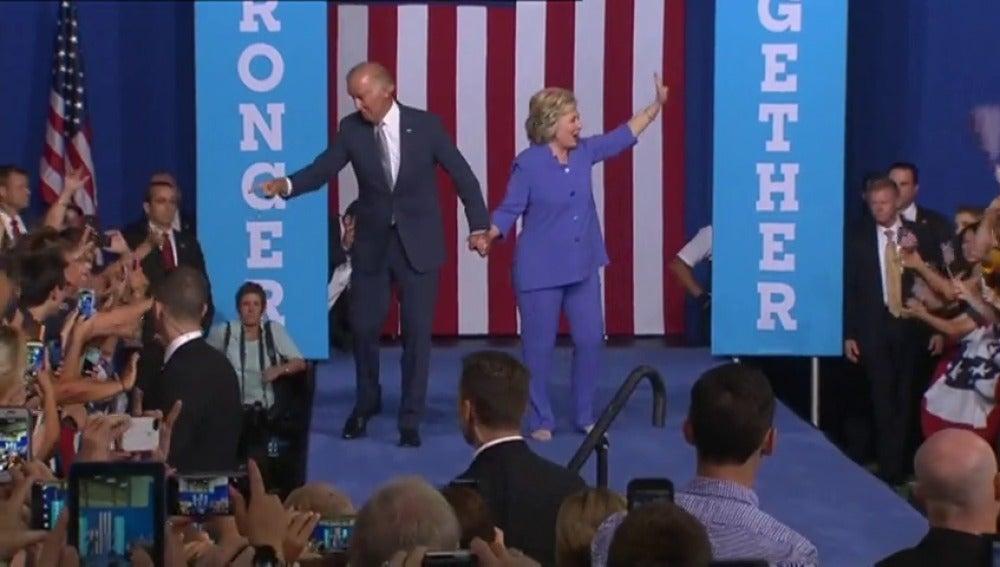Frame 36.948259 de: Joe Biden participa en un mitin junto a la candidata demócrata a la Casa Blanca
