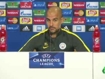Guardiola, durante la rueda de prensa previa al partido contra el Steaua