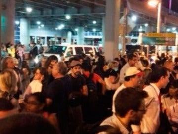 La terminal 8 del aeropuerto JFK es evacuada