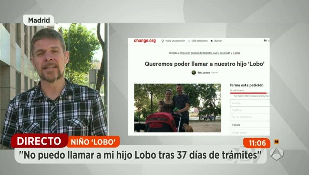 """Frame 2.342888 de: """"No puedo llamar a mi hijo Lobo tras 37 días de trámites"""""""