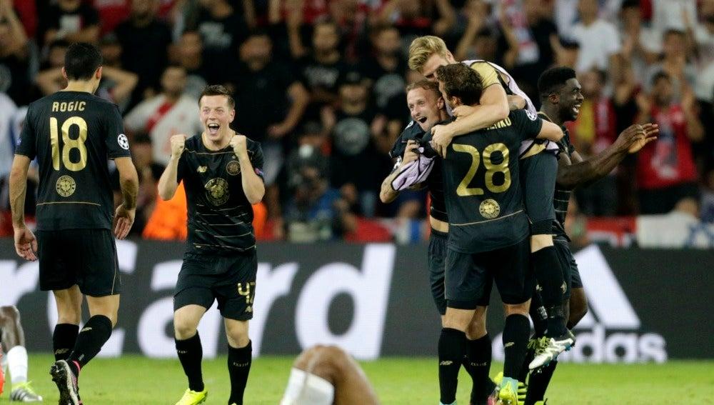 El Celtic festeja su pase a la Champions