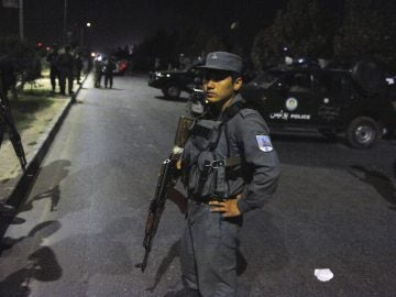 Miembros de seguridad afgana