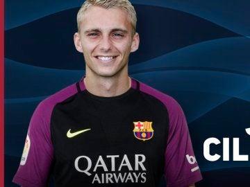 Cillessen posa con la camiseta del Barça