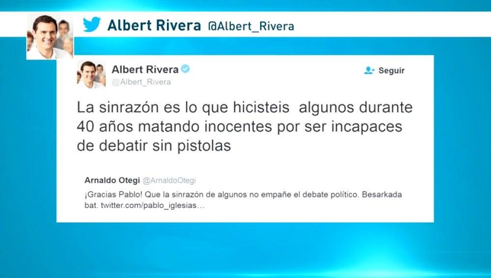 Frame 49.745617 de: Albert Rivera le recuerda a Otegi los asesinatos de ETA