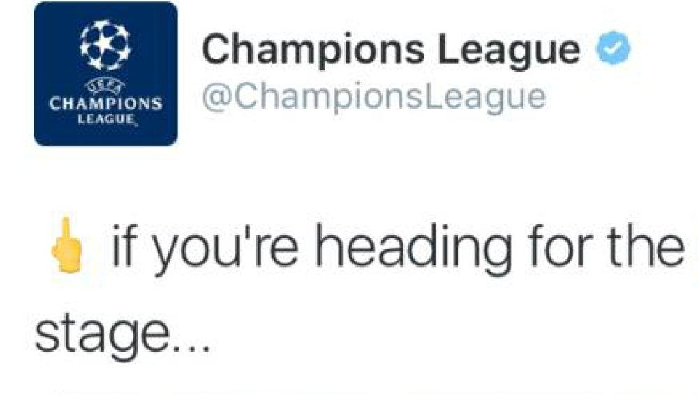 El tuit de la Champions para 'felicitar al M'Gladbach