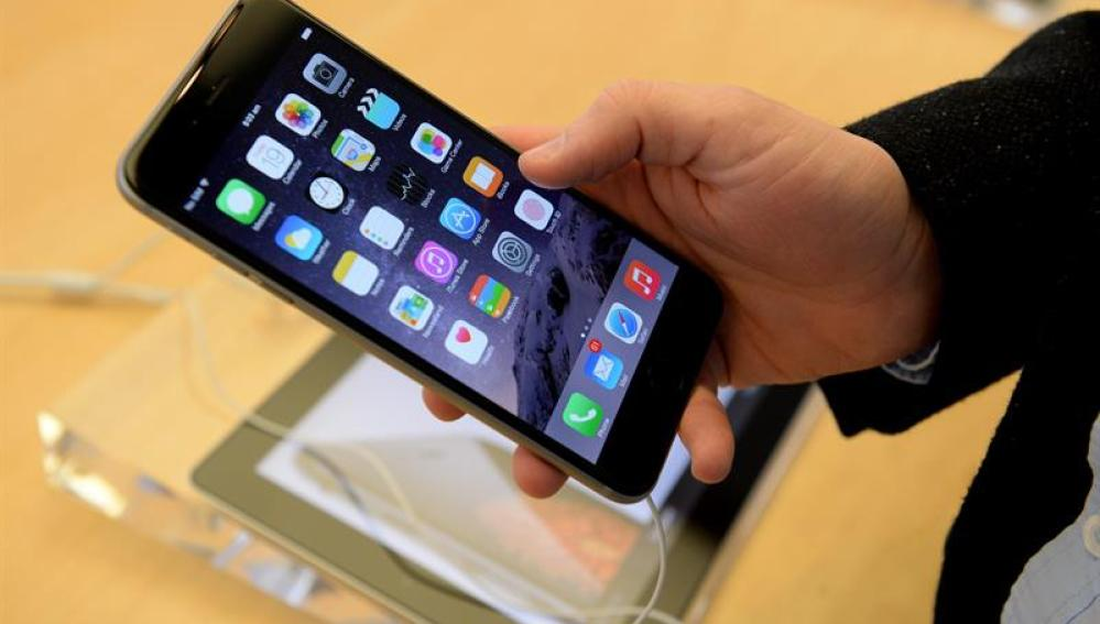 Vista de un teléfono móvil