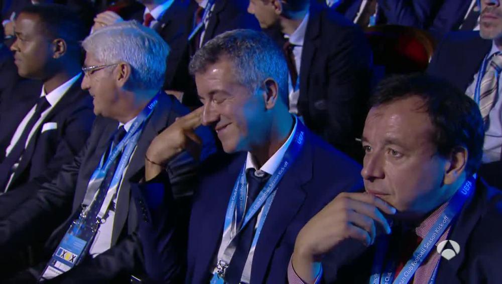 Gil Marín, resignado tras el sorteo de Champions