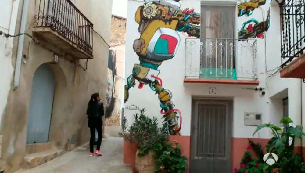 Una de las obras de arte comtemporáneo en uno de los pueblos menos habitados de España