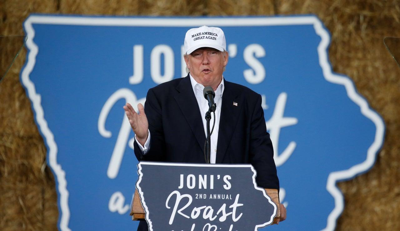 Donald Trump, durante un mitin en Iowa