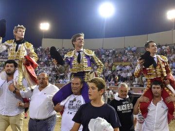 Javier Jiménez, El Juli y Manzanares, a hombros en Sanse