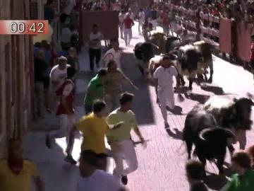 Encierro de los toros de El Canario.