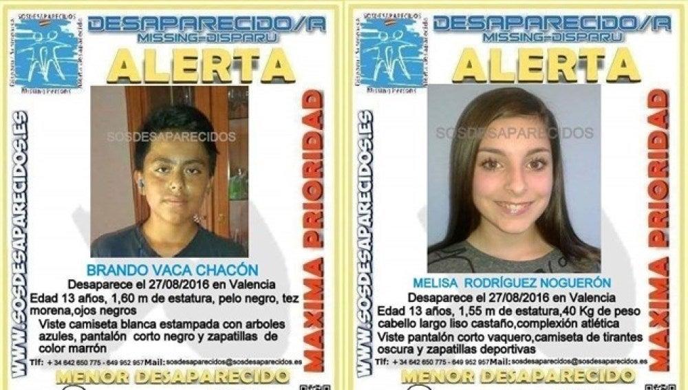 Cartel de los desaparecidos en Valencia