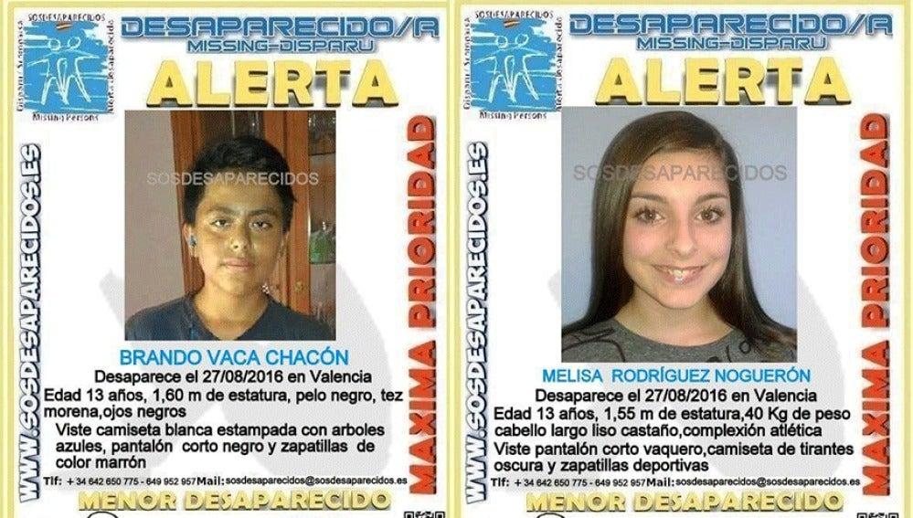 Niños desaparecidos en Valencia