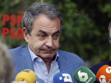 Jose Luis Rodriguez Zapatero ante los medios