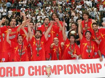 La selección española de baloncesto, campeona del mundo en 2006