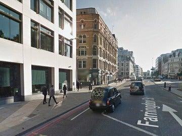 Calle Farringdon, lugar en el que ocurrieron los hechos en la ciudad de Londres
