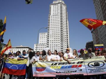 Marcha en Madrid contra Maduro