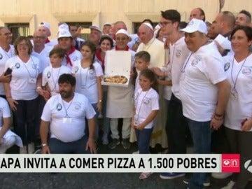 El Papa invita a comer a 1.500 pobres