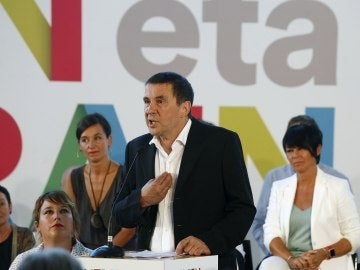 El candidato al lehendakari por EH Bildu, Arnaldo Otegi