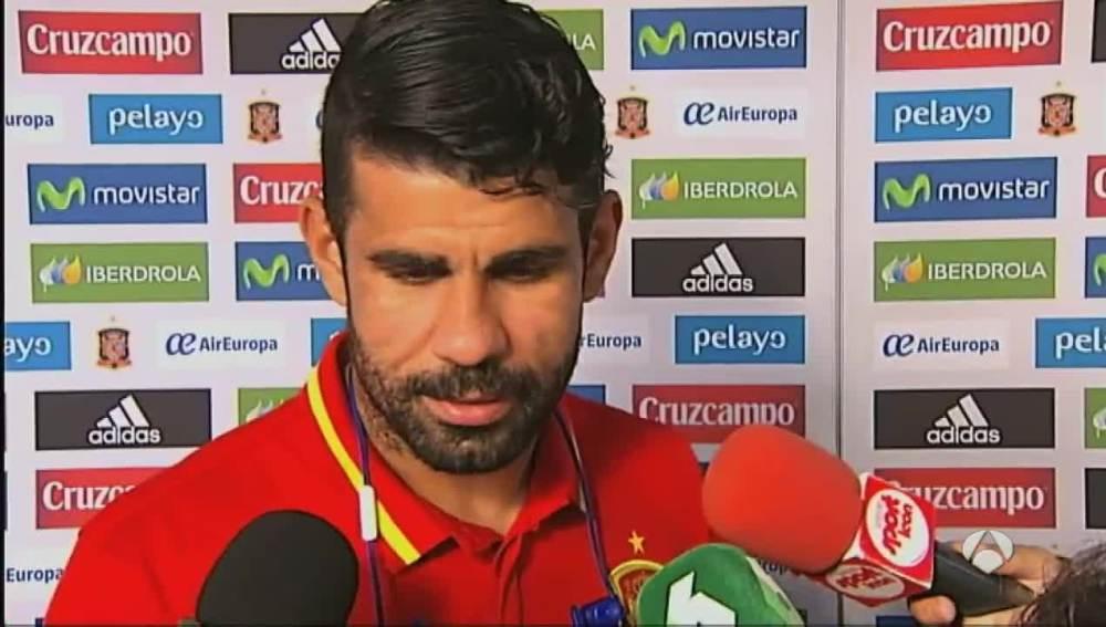 Costa, feliz tras su doblete ante Liechtenstein.