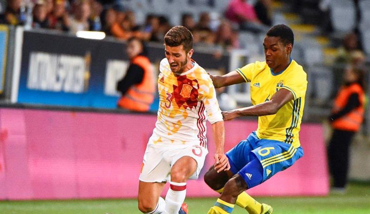 España empata con Suecia
