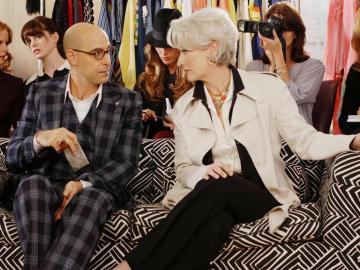 Stanley Tucci y Meryl Streep en 'El diablo viste de Prada'