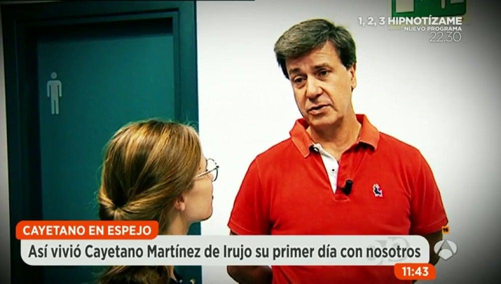 Frame 44.896639 de: Así vivió Cayetano Martínez de Irujo su debut en Espejo Público