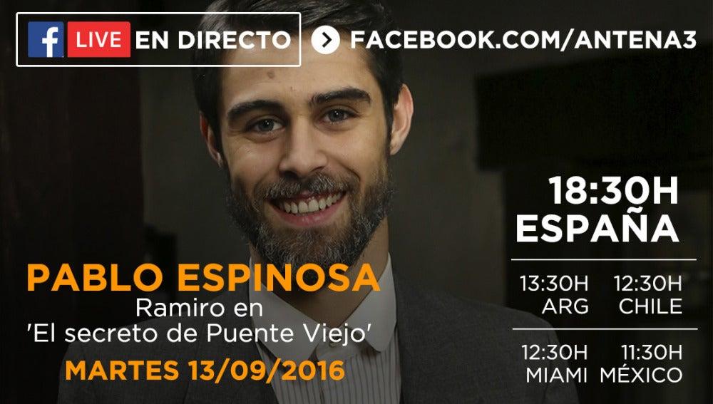 Facebook Live con Pablo Espinosa
