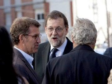 Rajoy visita el lugar del accidente en O Porriño