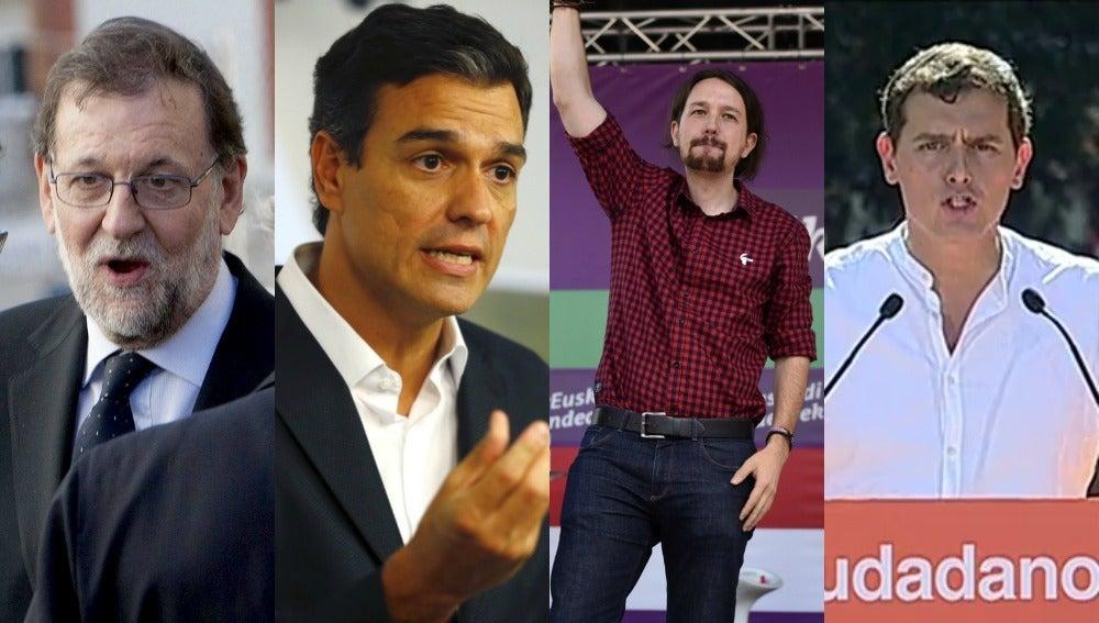 Rajoy, Sánchez, Iglesias y Rivera en la campaña vasca y gallega