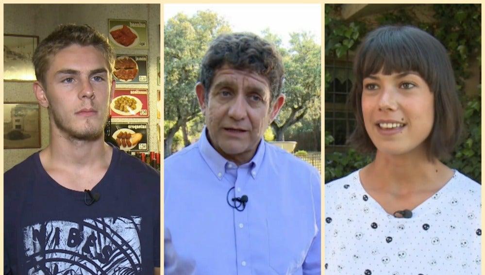 Andrea del Río, Patrick Criado y Pedro Casablanc