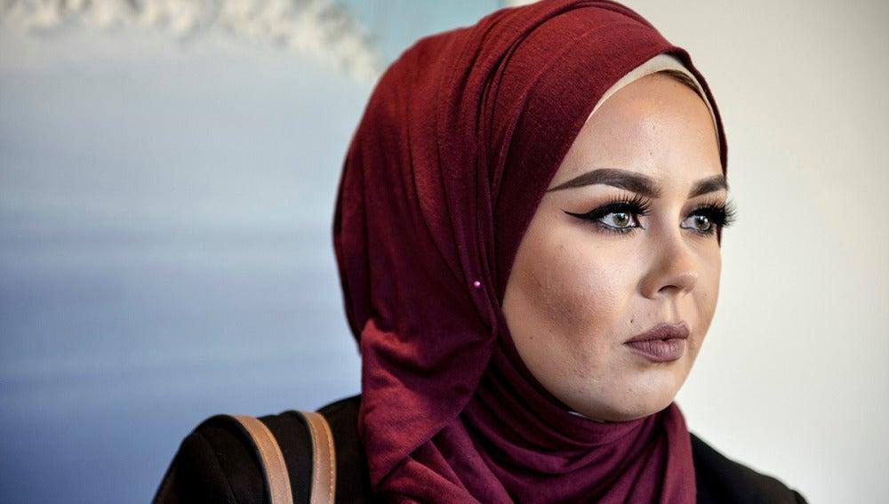Malika Bayan durante el juicio