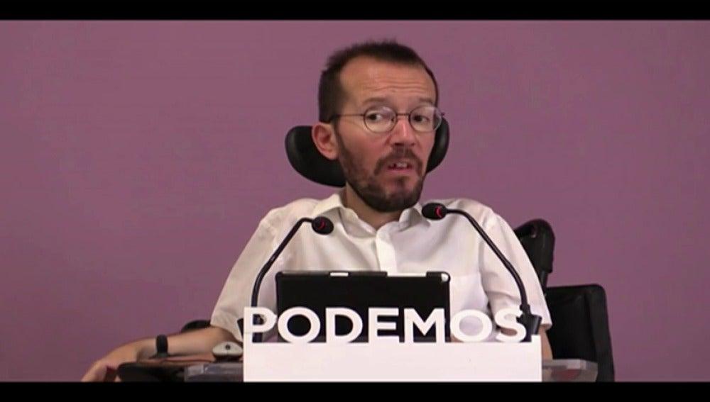 Frame 61.90915 de: Echenique anuncia que el PSOE quiere concretar una reunión esta semana entre Sánchez e Iglesias