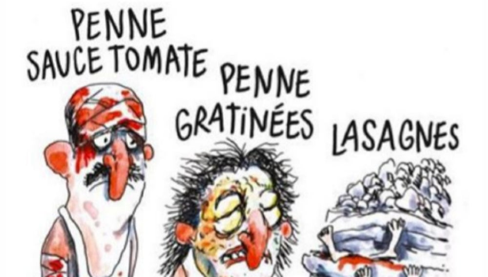 Viñeta de Charlie Hebdo sobre el terremoto en Amatrice
